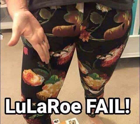 lularoe leggings with unfortunate pattern that looks like a male member