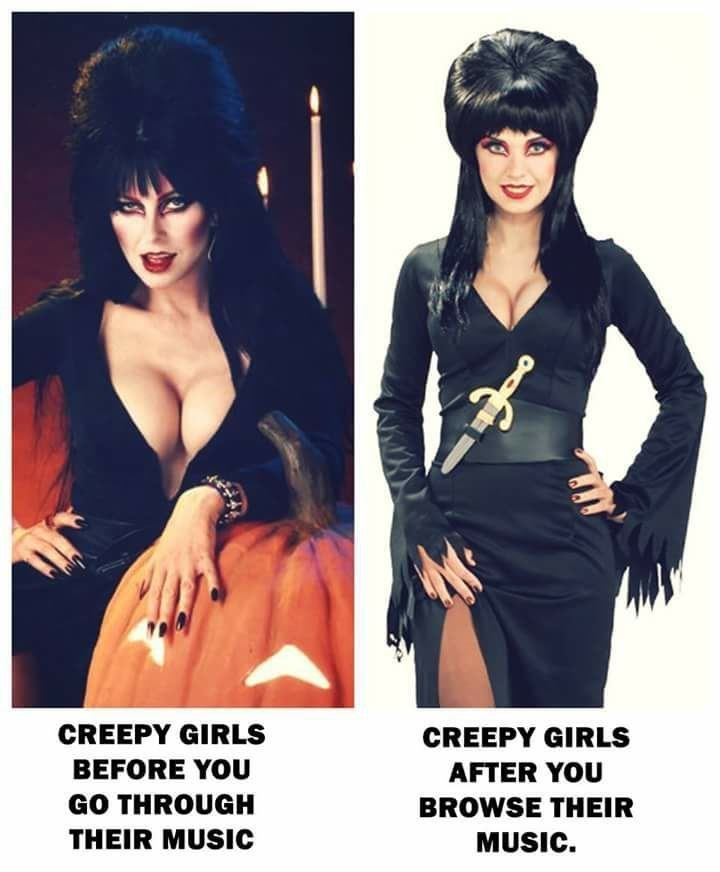 Funny meme about creepy girls.