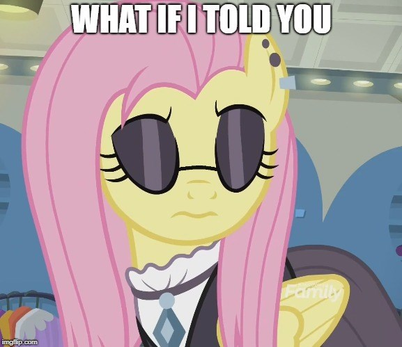the matrix screencap fake it til you make it what if i told you Memes fluttershy - 9148993536