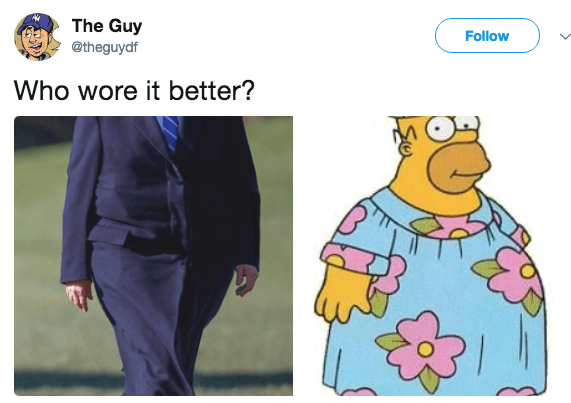 Cartoon - The Guy @theguydf Follow Who wore it better?