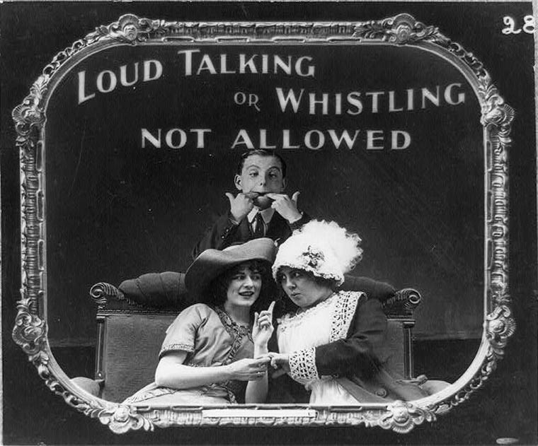 Album cover - LOUD TALKING OR WHISTLING NOT ALLOWED