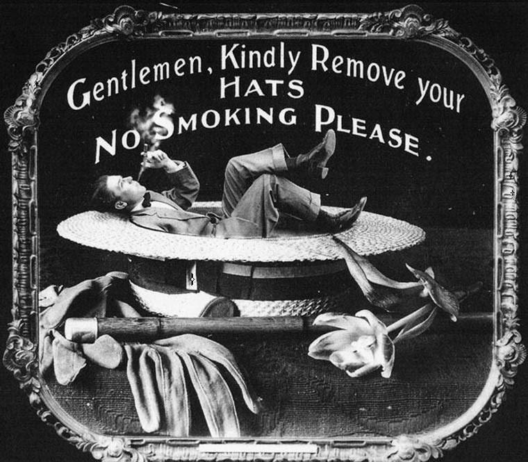 Metal - Gentlemen, Kind ly Remove NOMOKING PLEASE. your HATS GINa