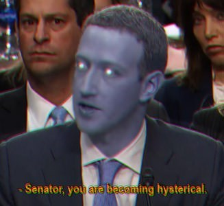 Photo caption - Senator, you are basoming hysterical.