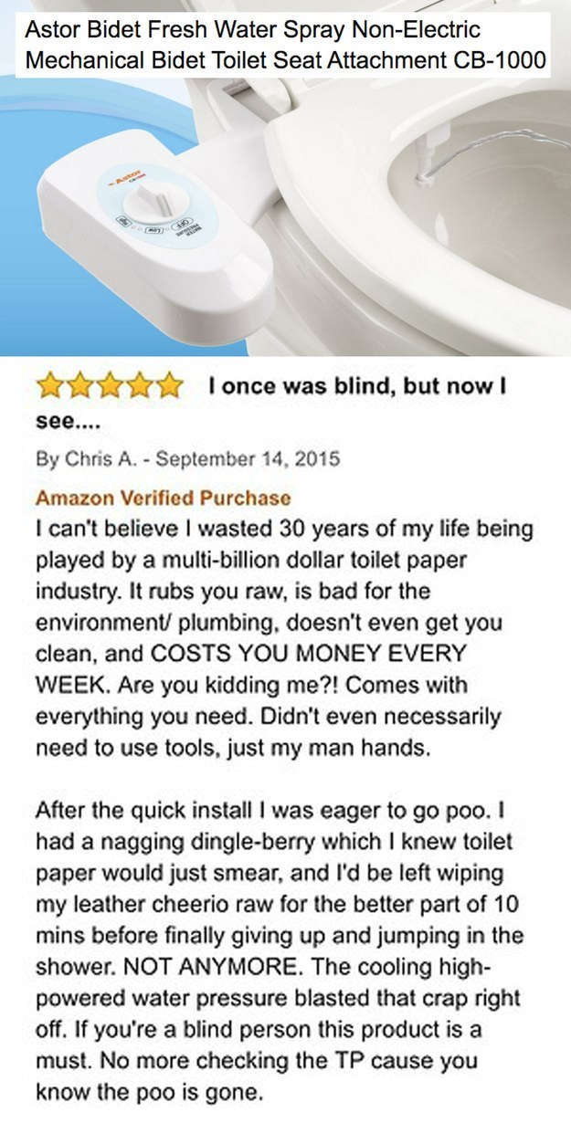 funny review for a Bidet toilet