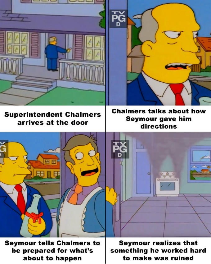 Loss Meme with the Simpsons and Seymour