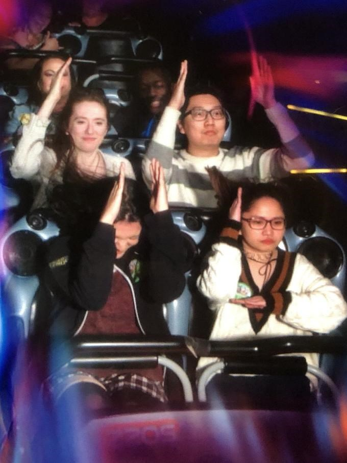 Loss Meme of people on a roller coaster and putting up their hands