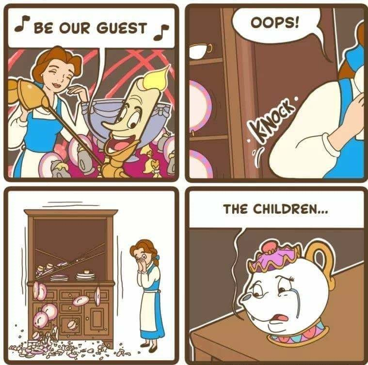 Cartoon - BE OUR GUEST OOPS! KNOT THE CHILDREN...