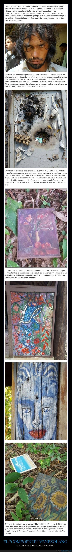 historia de un asesino venezolano que hacia arte con sangre de victimas