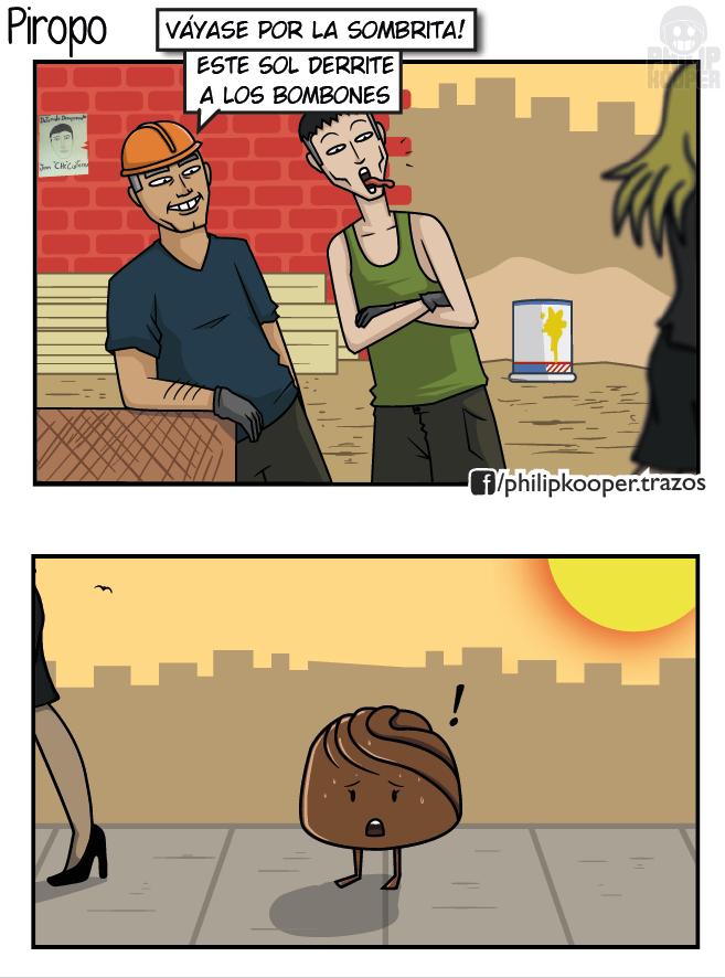 cuando los obreros le dicen a un caramelo que se vaya por la sombra