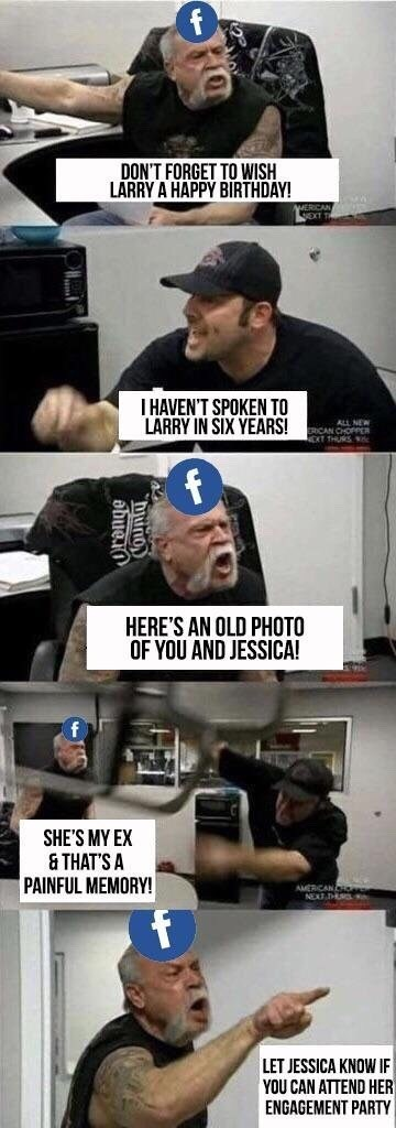 funny american chopper meme about facebook.
