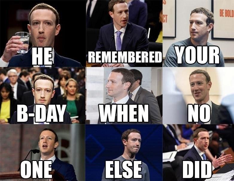pics birthday Memes facebook funny Mark Zuckerberg - 9150470656