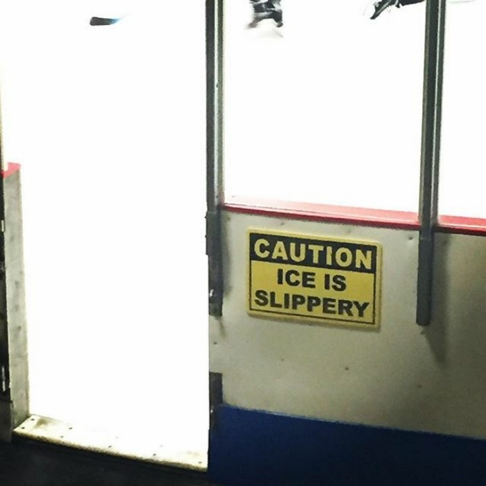 Yellow - CAUTION ICE IS SLIPPERY