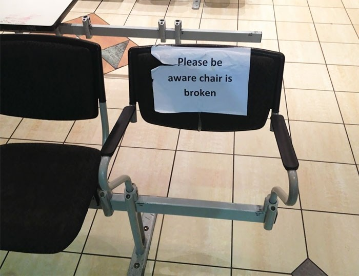 Product - Please be aware chair is broken