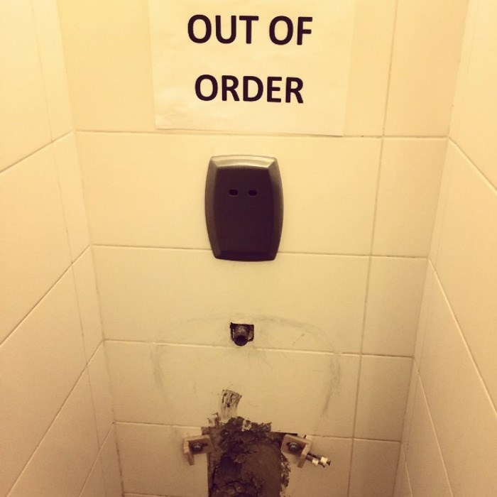 Toilet - OUT OF ORDER