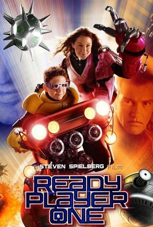 Ready Player One parody poster with Spy Kids characters