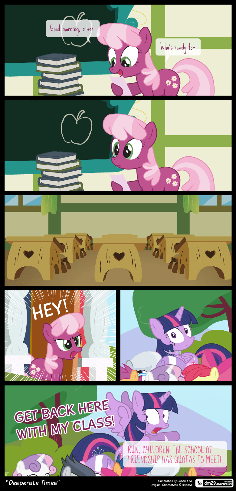 cheerilee twilight sparkle dm29 comic school daze - 9151043584