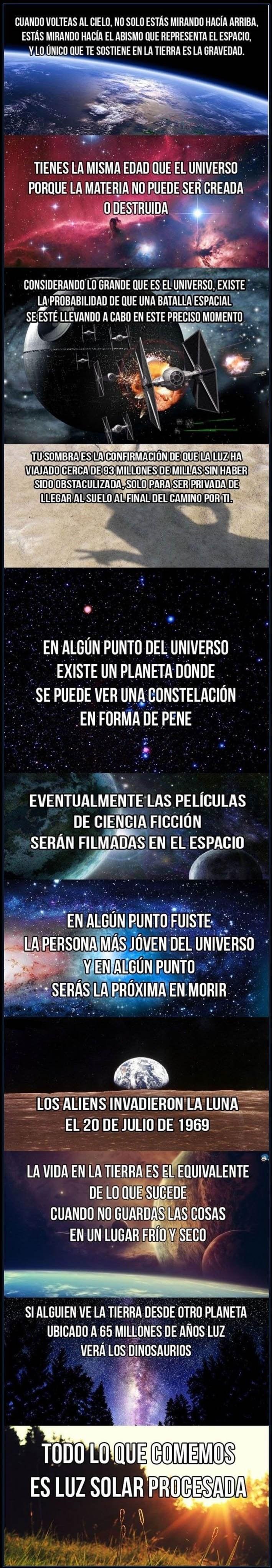 una serie de reflexiones sobre el espacio y tu