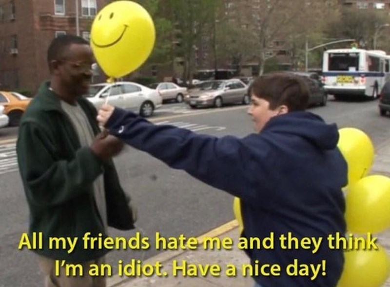 Funny depressing picture about people hating you