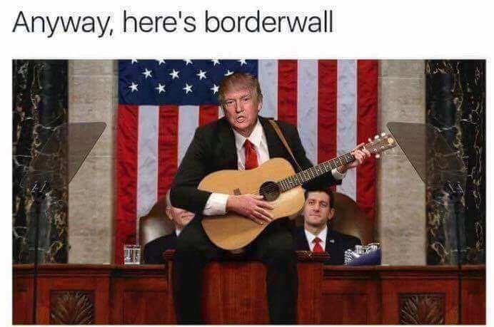 music meme - String instrument - Anyway, here's borderwall