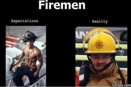 Helmet - Firemen Expectations Reality AN GIFSec.com