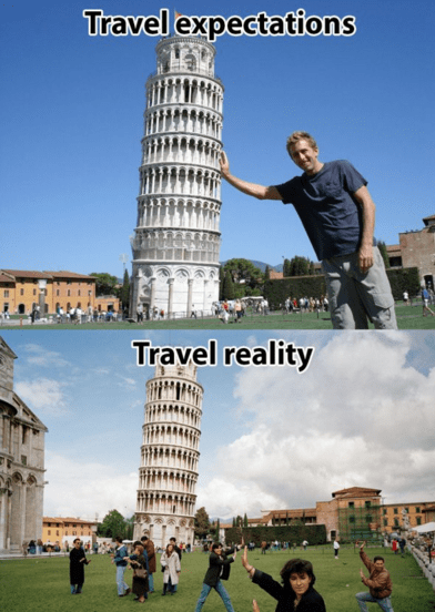 Landmark - Travel expectations Travel reality
