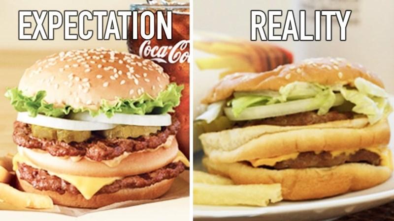 Food - EXPECTATION Coca-Co REALITY