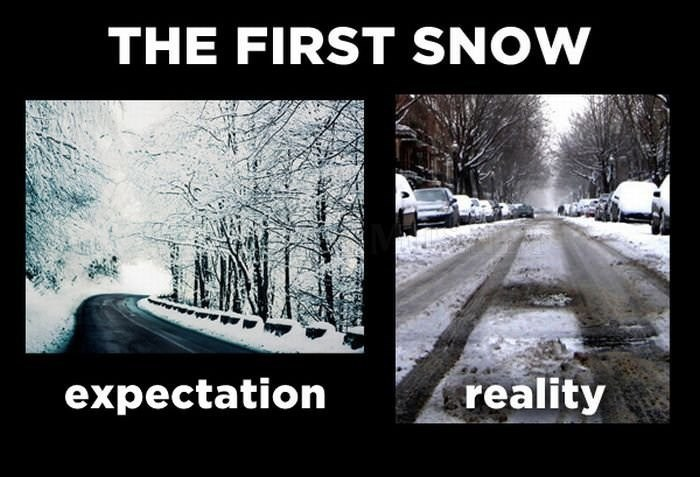 Snow - THE FIRST SNOW reality expectation