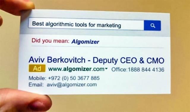 Text - Best algorithmic tools for marketing Did you mean: Algomizer Aviv Berkovitch Deputy CEO & CMO Ad www.algomizer.com Office: 1888 844 4136 Mobile: +972 (0) 50 3677 885 Email: aviv@algomizer.com