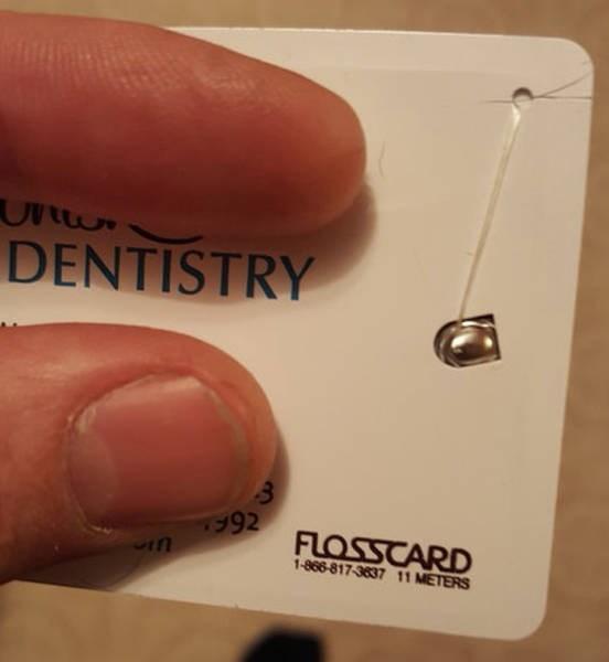 Finger - DENTISTRY 992FLOSSCARD 1-866-817-3637 11 METERS