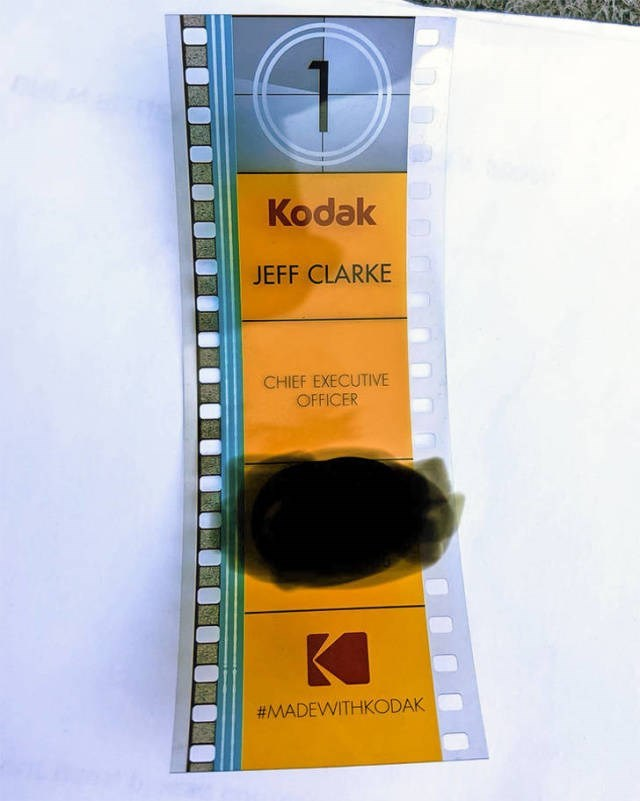 Yellow - Kodak JEFF CLARKE CHIEF EXECUTIVE OFFICER #MADEWITHKODAK