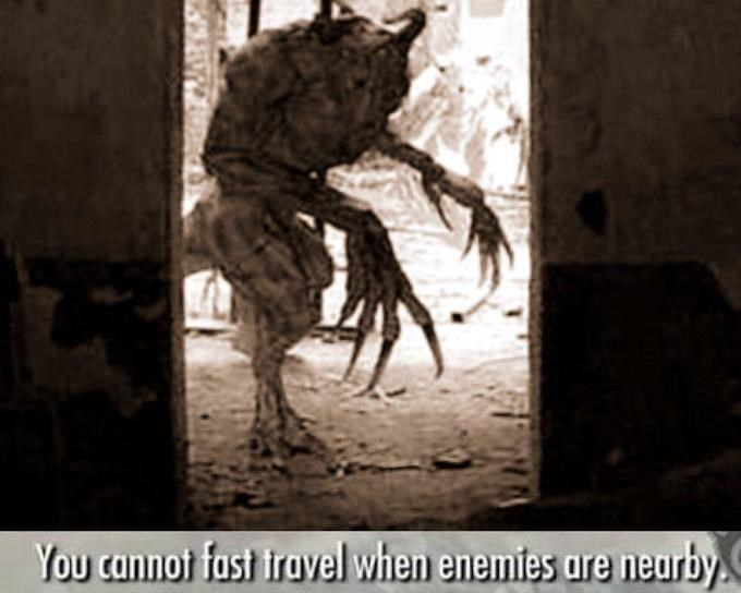 Visual arts - You cannot fast iravel when enemies are neurby