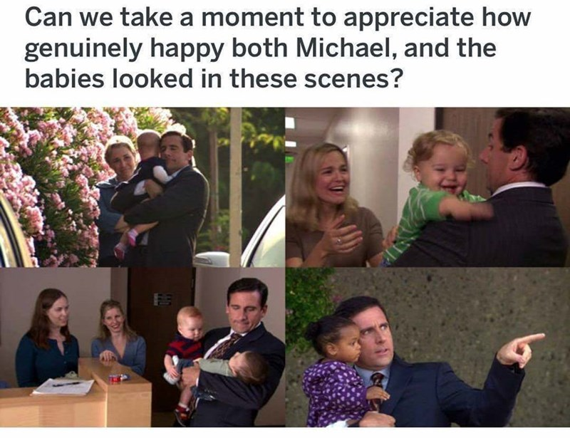 People - Can we take a moment to appreciate how genuinely happy both Michael, and the babies looked in these scenes?