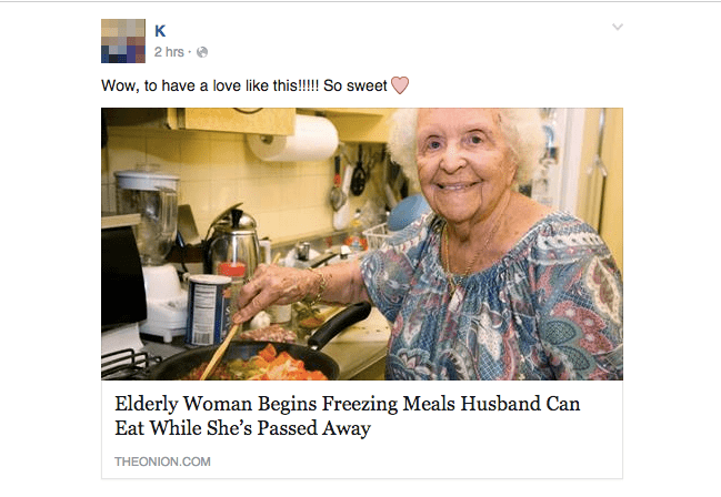 Product - к 2 hrs Wow, to have a love like this!!! So sweet' Elderly Woman Begins Freezing Meals Husband Can Eat While She's Passed Away THEONION.COM