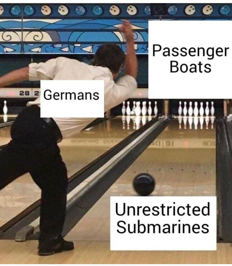 Bowling - Passenger Boats Germans 28 2 OOMPAC HOA Unrestricted Submarines