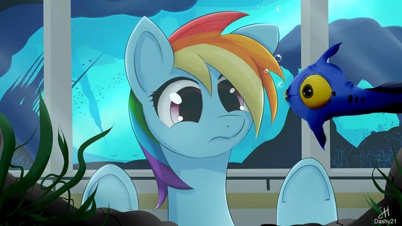 subnautica rainbow dash - 9153531904