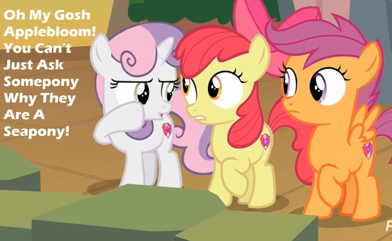 surf and/or turf changeling collective Sweetie Belle apple bloom screencap mean girls Scootaloo - 9153691392