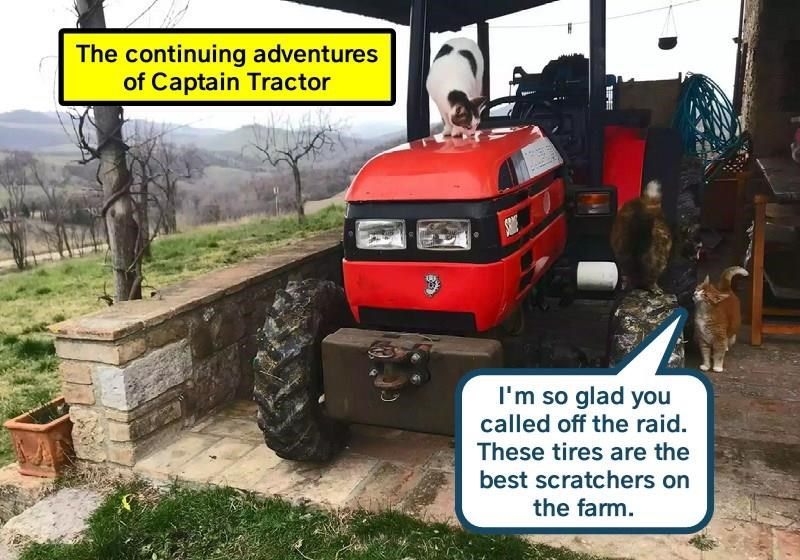 The continuing adventures of Captain Tractor