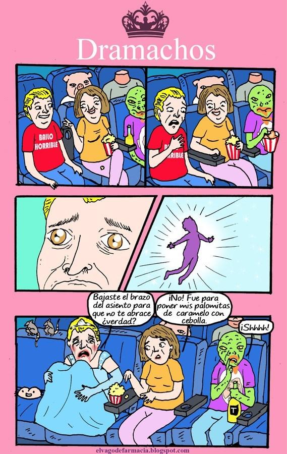 eres un exagerado cuando bajan el brazo en el cine