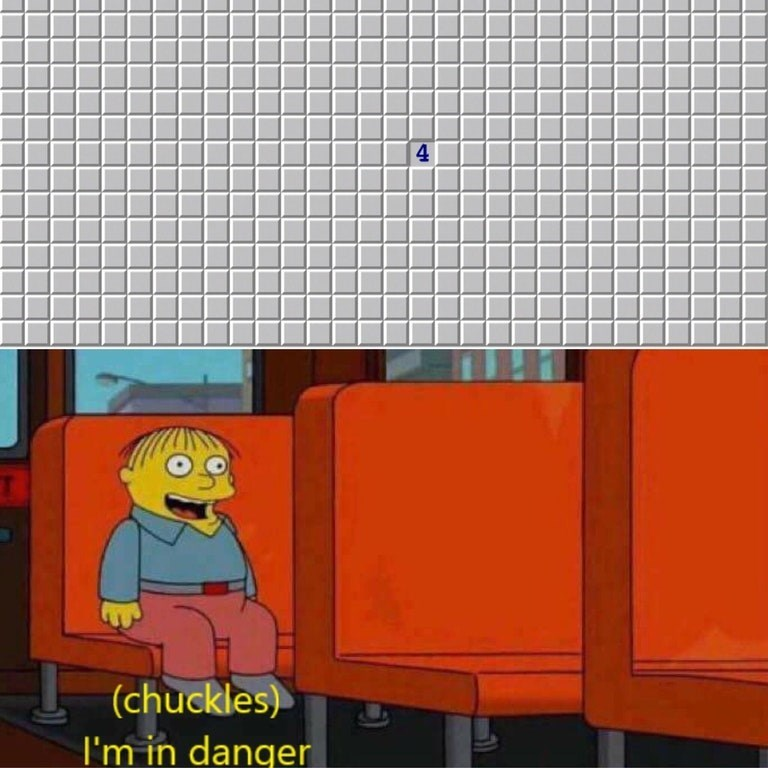 First click in Minesweeper being the number 4 and Ralph saying he's in danger