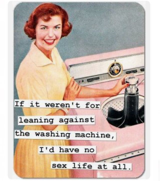 sexy meme - Mousepad - If it weren't for leaning against the washing machine, I'd have no sex life at all.