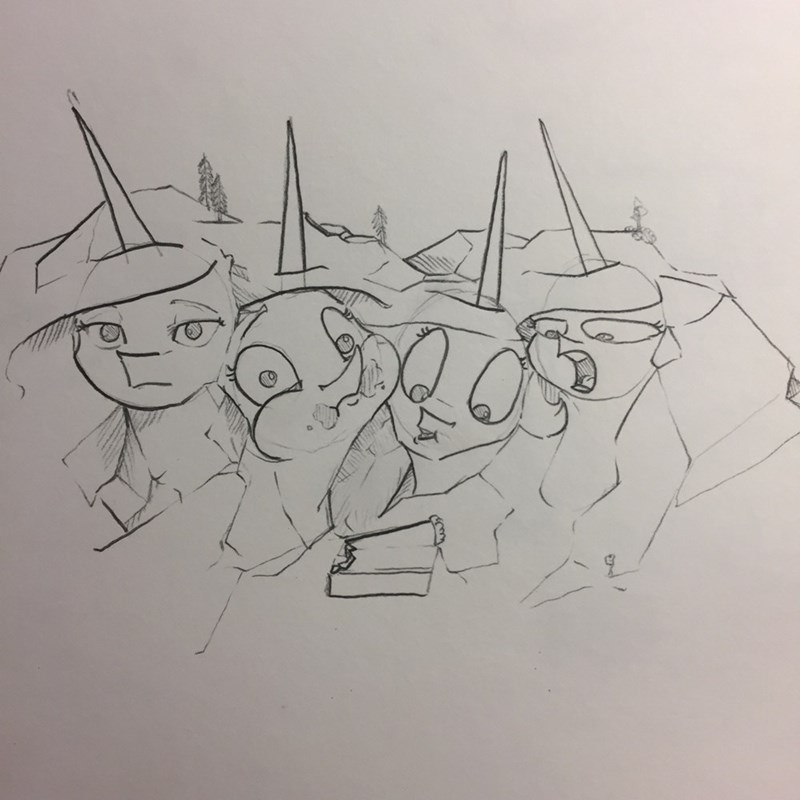 princess celestia Mount Rushmore greyscale - 9154463744