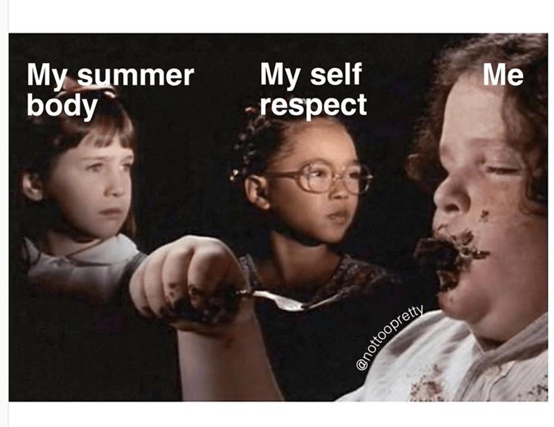 People - My summer body My self respect Me anottoopretty