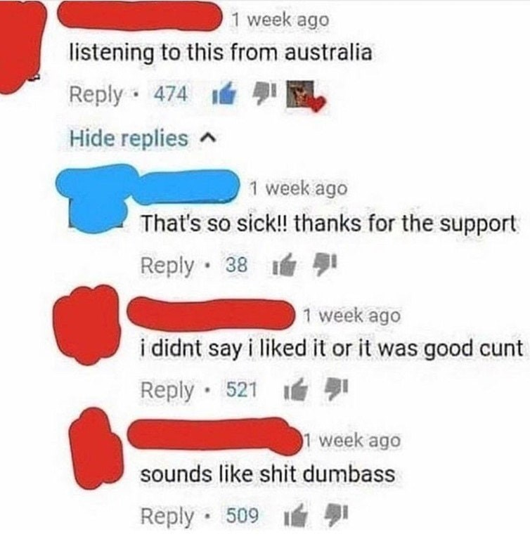 youtube australia youtube comments Australians aussies music review funny rude - 9154909184