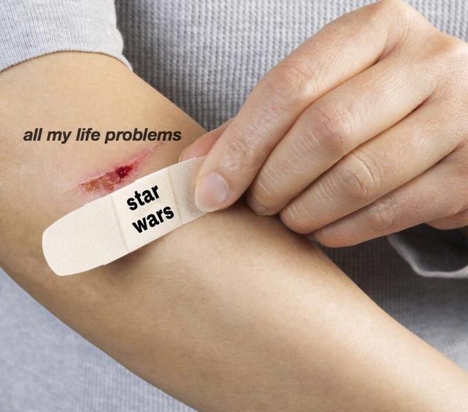 Skin - all my life problems star wars