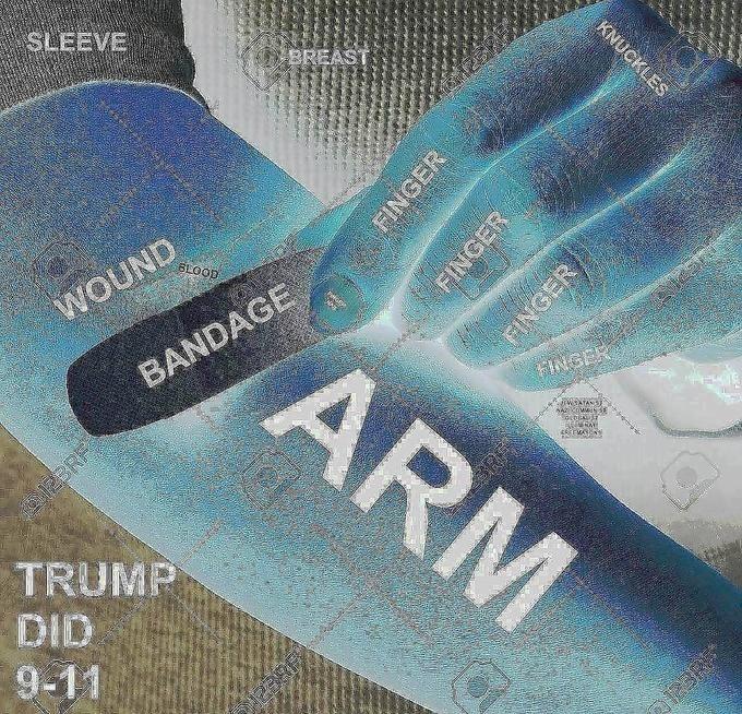 Blue - SLEEVE BREAST UND BLOOD ARM BANDAGE FINGER WSATANS RETWAYE TRUMP DID 9-11 KNUCKLES FINGER ARBRA FINGER FINGER