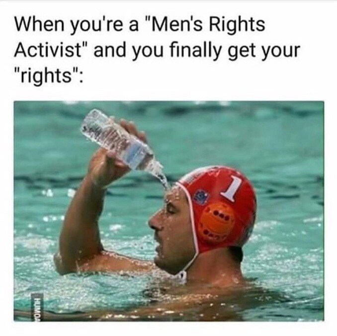 Funny meme about mens rights