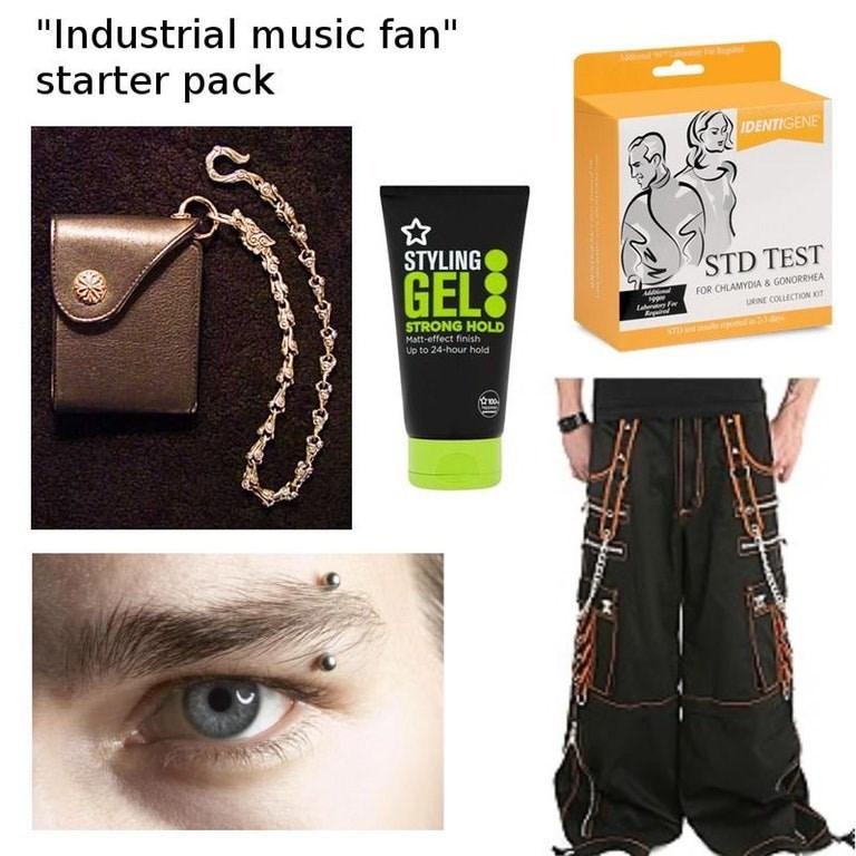 starter pack for industrial music fans