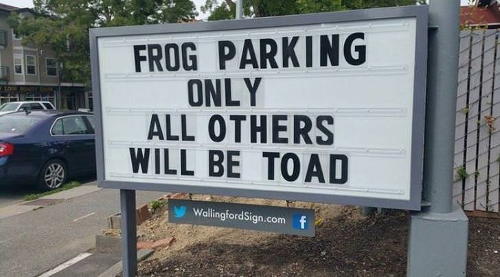 Motor vehicle - FROG PARKING ONLY ALL OTHERS WILL BE TOAD WallingfordSign.com f