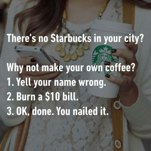 Image explaining how to make coffee as good as Starbucks