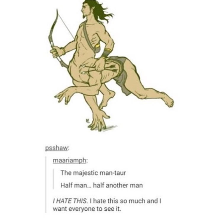 Joint - psshaw maariamph: The majestic man-taur Half man...half another man THATE THIS. I hate this so much and want everyone to see it.